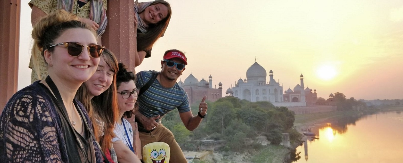 Volunteering as a guide to Taj Mahal, India
