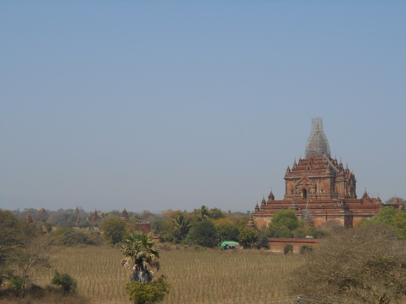 This is the day I'm leaving Mandalay towards Bagan. It's my first bus ride in Myanmar. The bus picks you up at the Hostel.