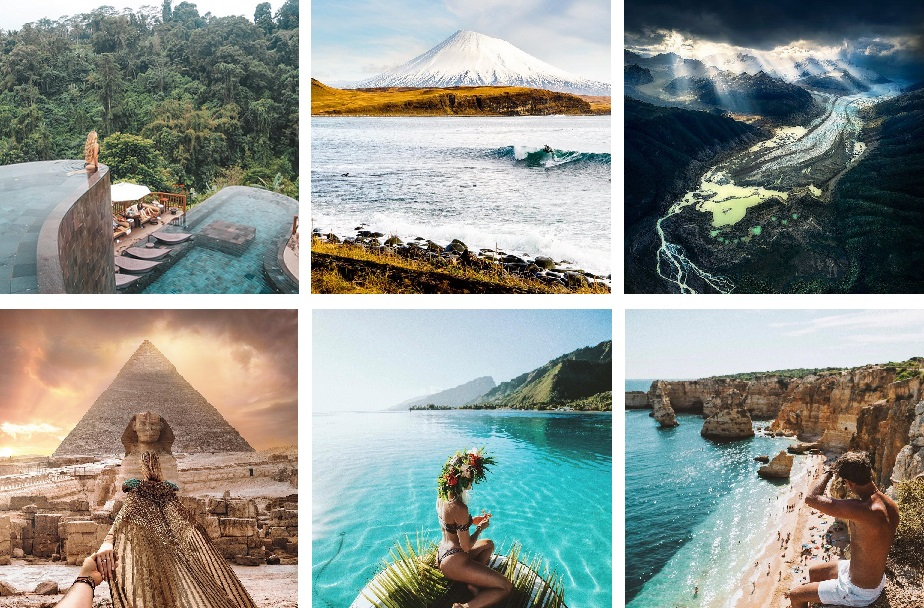 Travel Instagram accounts above 1 Million followers