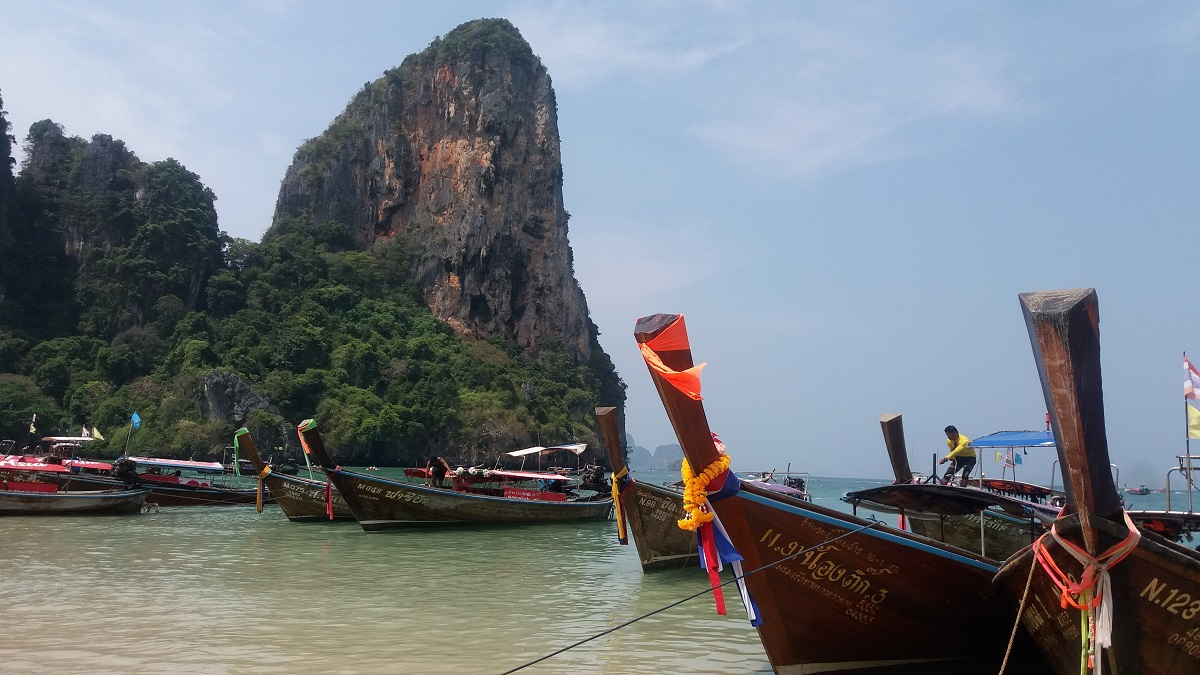 Kayaking at Railay Beach, Krabi