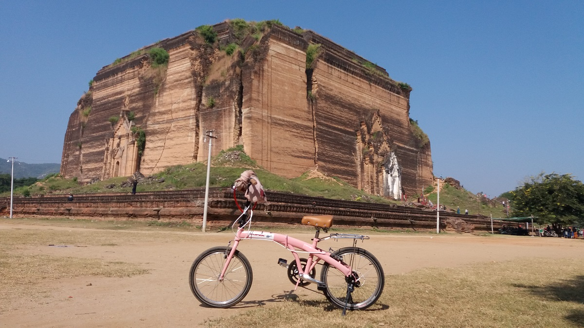 Exploring Mingun, Myanmar, by bicycle