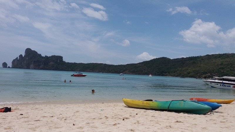 Going from Krabi to Ko Phi Phi is kind of fast and cheap. There is no problem in finding a tour operator selling these tickets. Even Hostels sell it.