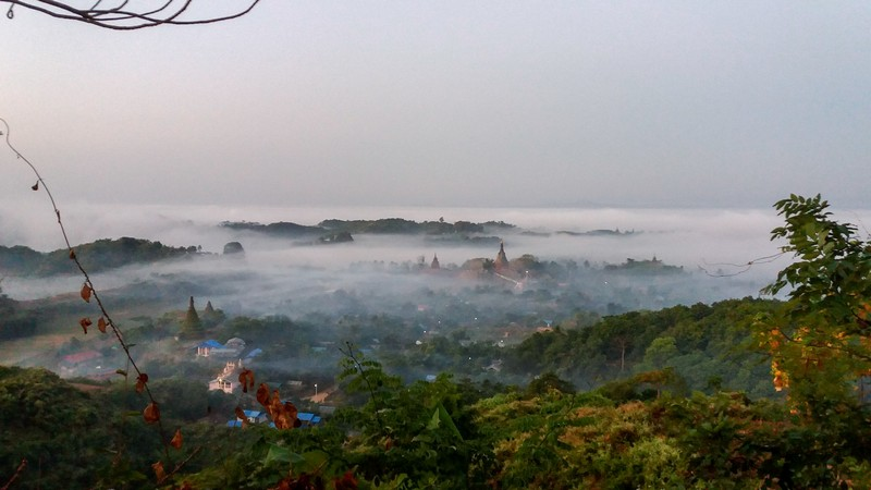 Magical Mrauk-U sunrise, Myanmar