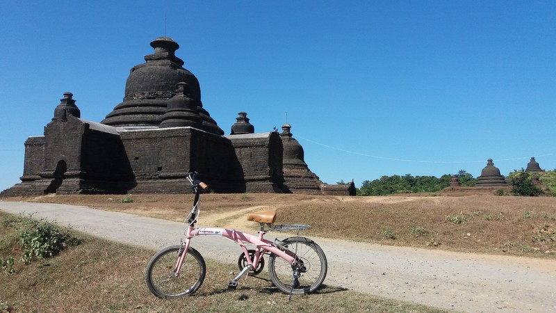 The best way to explore Mrauk-U is really on the top of a bicycle. I have my own Ympek bicycle, but you can rent one there.