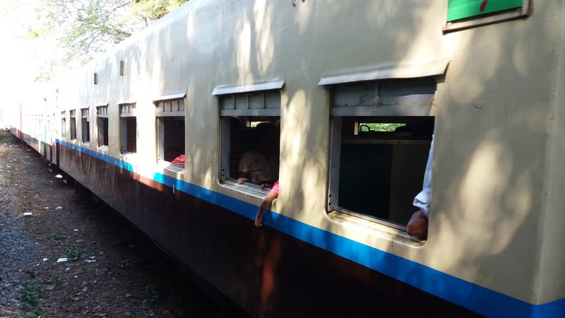 I met a friend during my journey that was heading to Bangkok, and I joined. We decided to go by train from Yangon to Mawlamyine to reach Bangkok by land.