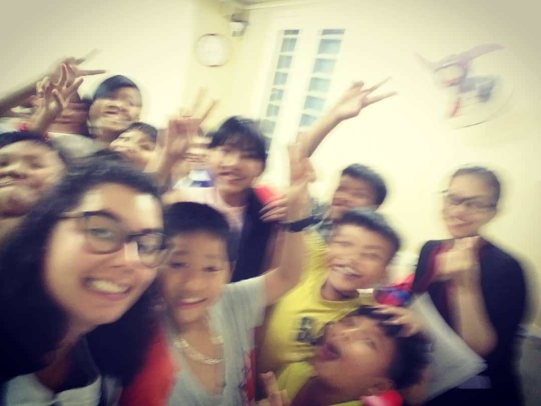 I had previously volunteered in India during this trip and it was amazing, so, I planned another volunteering in Ho Chi Minh in an English center