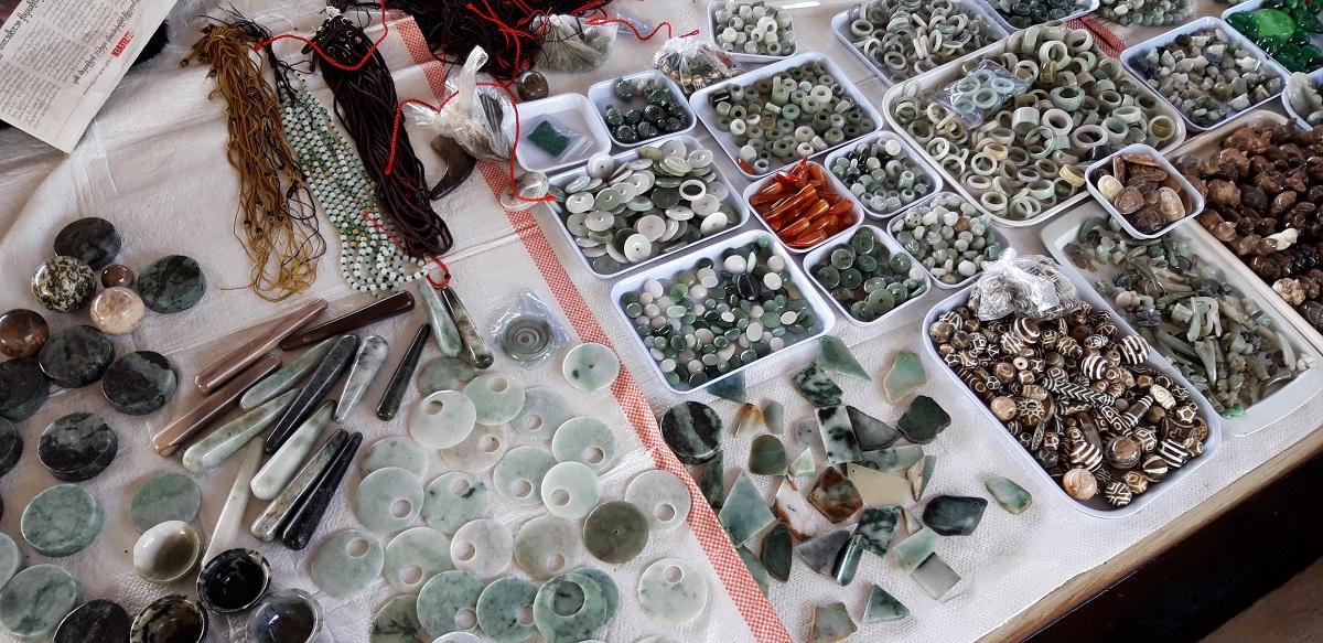 Visiting the Jade Market and riverside in Mandalay, Myanmar