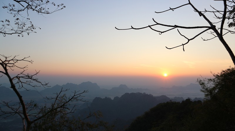 Mount Zwegabin is the highest climb you can do in Hpa-An. It takes from 1h30 up to 2 hours to complete the journey up, and people advise doing it for sunrise.