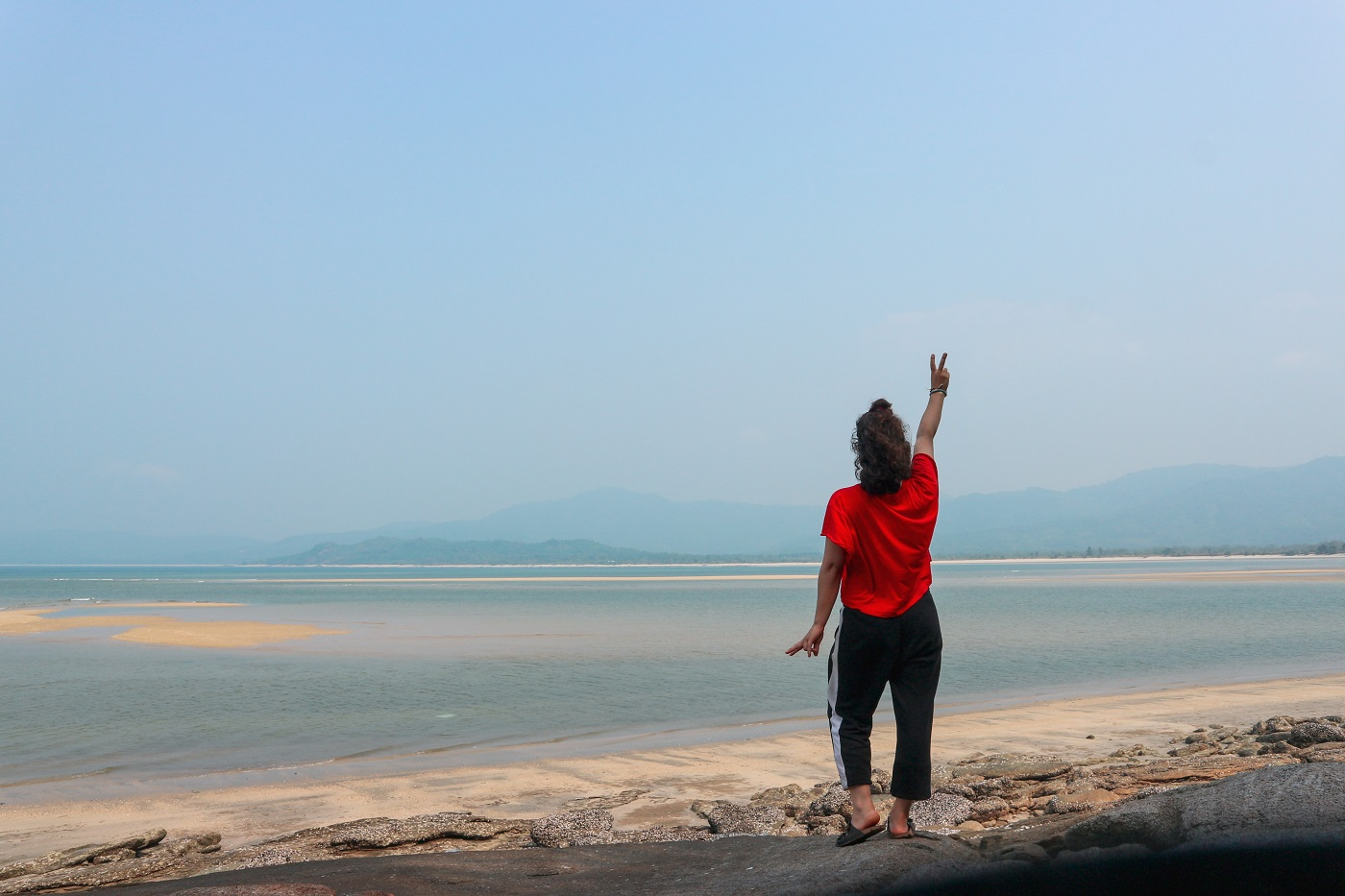 Exploring Dawei beaches by motorbike on my own