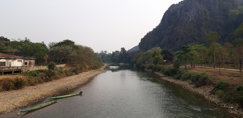 Vang Vieng is a cute little town in Laos. In fact, I would say it is very beautiful. I have only been in 3 cities in Laos, but Vang Vieng was definitely the most beautiful one.
