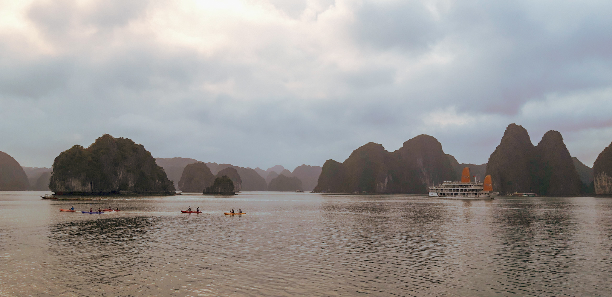 Searching for pictures of Halong Bay and thinking that someday I would be there was dreamy. It looks magnificent, and it is!
